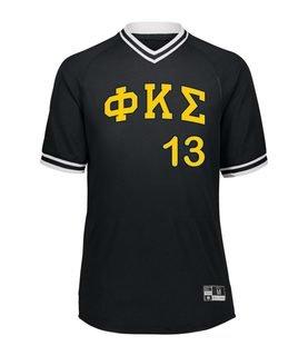 Phi Kappa Sigma Retro V-Neck Baseball Jersey