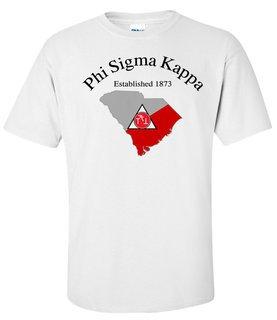 Phi Sigma Kappa State Flag T-shirt
