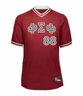 Phi Sigma Phi Retro V-Neck Baseball Jersey