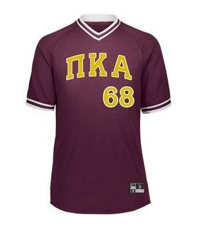 Pi Kappa Alpha Retro V-Neck Baseball Jersey