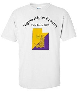 Sigma Alpha Epsilon State Flag T-shirt