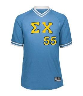 Sigma Chi Retro V-Neck Baseball Jersey