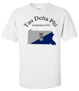 Tau Delta Phi State Flag T-shirt