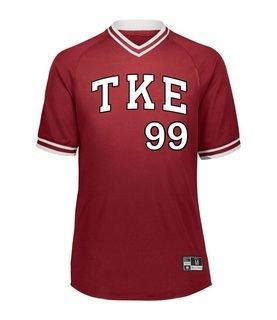 Tau Kappa Epsilon Retro V-Neck Baseball Jersey