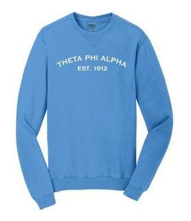 Theta Phi Alpha Pigment Dyed Crewneck Sweatshirt