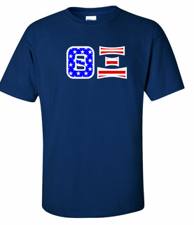 Theta Xi Greek Letter American Flag Tee