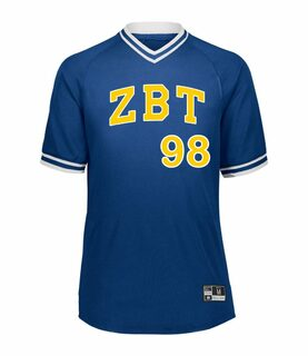 Zeta Beta Tau Retro V-Neck Baseball Jersey