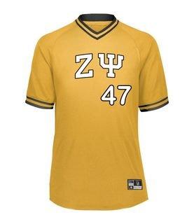 Zeta Psi Retro V-Neck Baseball Jersey