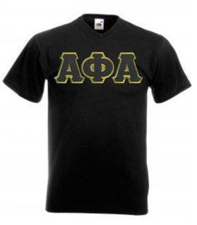 DISCOUNT- Alpha Phi Alpha Lettered V-Neck T-Shirt