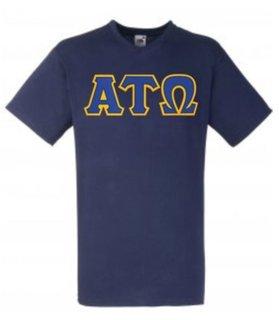 DISCOUNT- Alpha Tau Omega Lettered V-Neck T-Shirt