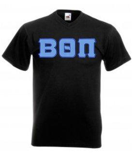 DISCOUNT- Beta Theta Pi Lettered V-Neck T-Shirt