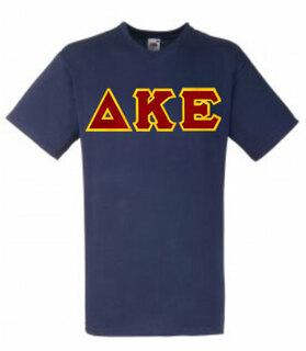 DISCOUNT- Delta Kappa Epsilon Lettered V-Neck T-Shirt