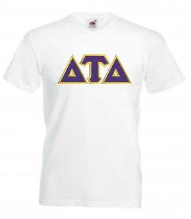 DISCOUNT- Delta Tau Delta Lettered V-Neck T-Shirt
