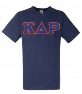 DISCOUNT- Kappa Delta Rho Lettered V-Neck T-Shirt