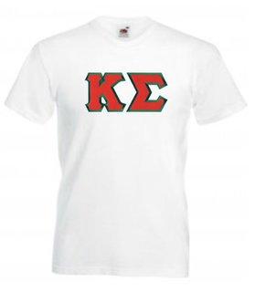 DISCOUNT- Kappa Sigma Lettered V-Neck T-Shirt