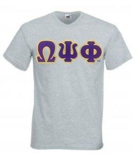 DISCOUNT- Omega Psi Phi Lettered V-Neck T-Shirt