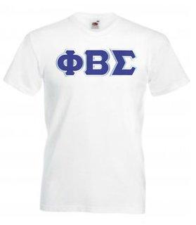 DISCOUNT- Phi Beta Sigma Lettered V-Neck T-Shirt
