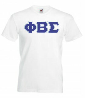 DISCOUNT- Phi Beta Sigma Lettered V-Neck T-Shirt