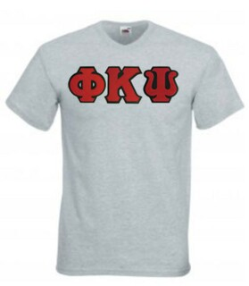 DISCOUNT- Phi Kappa Psi Lettered V-Neck T-Shirt