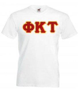 DISCOUNT- Phi Kappa Tau Lettered V-Neck T-Shirt