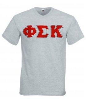DISCOUNT- Phi Sigma Kappa Lettered V-Neck T-Shirt