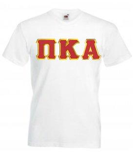 DISCOUNT- Pi Kappa Alpha Lettered V-Neck T-Shirt