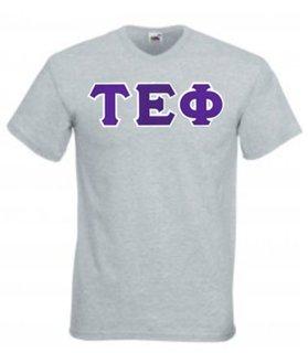 DISCOUNT- Tau Epsilon Phi Lettered V-Neck T-Shirt