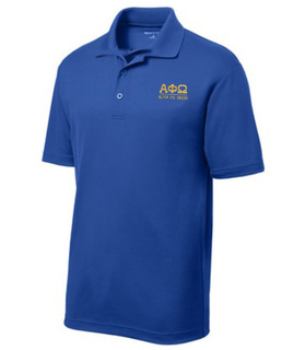 $30 World Famous Alpha Phi Omega Greek PosiCharge Polo