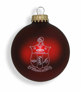Kappa Alpha Psi Glass Christmas Ornament