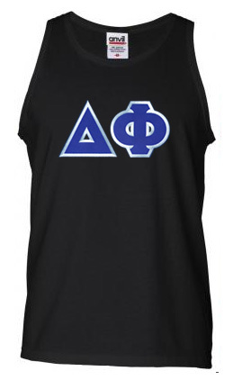 DISCOUNT- Delta Phi Lettered Tank Top