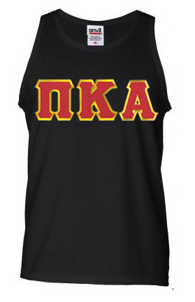 DISCOUNT- Pi Kappa Alpha Lettered Tank Top