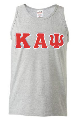 DISCOUNT- Kappa Alpha Psi Lettered Tank Top