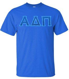 Greek Copper Lettered Twill Shirt