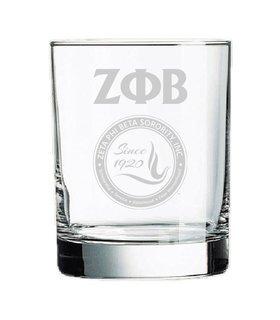 Zeta Phi Beta Old Style Glass