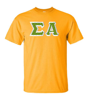 $15 Sigma Alpha Lettered Tee