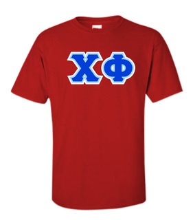 3 Color Twill Chi Phi Custom Twill T-Shirt