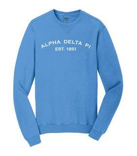 Alpha Delta Pi Pigment Dyed Crewneck Sweatshirt