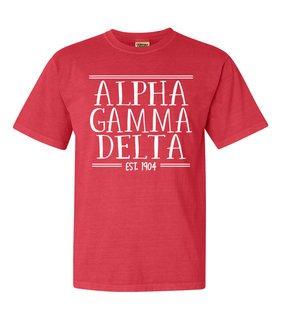 Alpha Gamma Delta Comfort Colors Custom Heavyweight T-Shirt