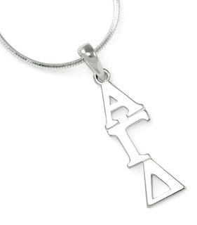Alpha Gamma Delta Sterling Silver lavaliere