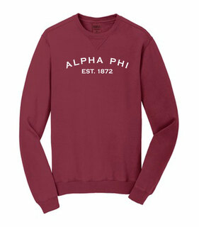 Alpha Phi Pigment Dyed Crewneck Sweatshirt