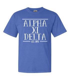 Alpha Xi Delta Comfort Colors Custom Heavyweight T-Shirt