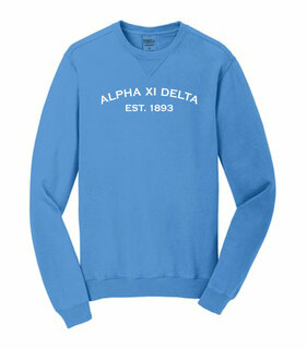 Alpha Xi Delta Pigment Dyed Crewneck Sweatshirt