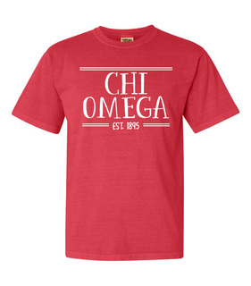 Chi Omega Comfort Colors Custom Heavyweight T-Shirt