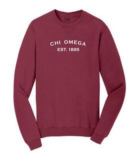 Chi Omega Pigment Dyed Crewneck Sweatshirt