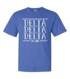 Delta Delta Delta Comfort Colors Custom Heavyweight T-Shirt
