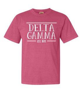 Delta Gamma Comfort Colors Custom Heavyweight T-Shirt