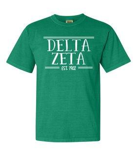 Delta Zeta Comfort Colors Custom Heavyweight T-Shirt