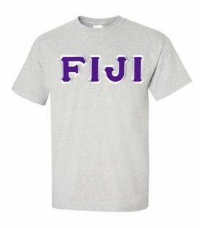 FIJI Fraternity Sewn Lettered T-Shirt