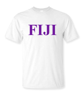 FIJI Fraternity Lettered Tee - $9.95!