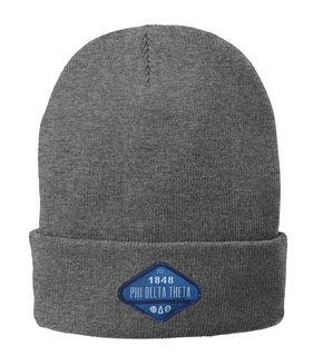 Fraternity Woven Lettered Knit Cap